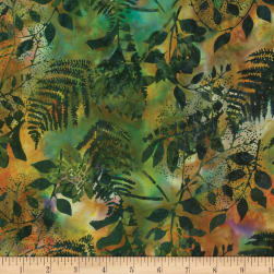 Hoffman Bali Batiks Foliage Jungle Fabric