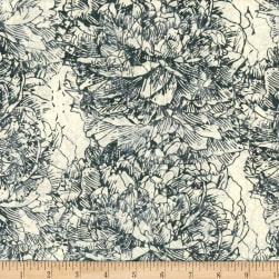 Hoffman Bali Batik Large Flower Graphite Fabric