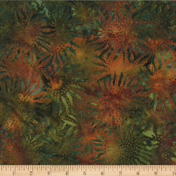 Hoffman Bali Batik Sunflowers Autumn Fabric