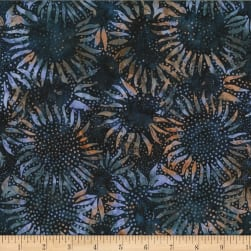 Hoffman Bali Batik Sunflowers Midnight Fabric
