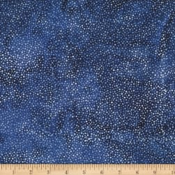 Hoffman Bali Batik Dots Deep Blue Fabric