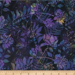 Hoffman Bali Batik Foliage New Grape Fabric
