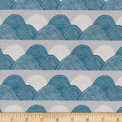 Cotton + Steel Imagined Landscapes Headlands Moonlight Fabric
