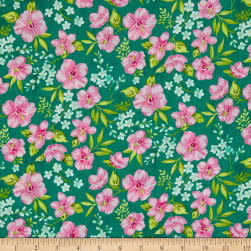 Beach Bash Hibiscus Hula Pool Side Fabric