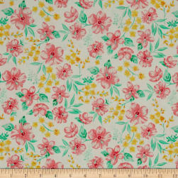 Beach Bash Hibiscus Hula Guava Fabric