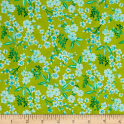 Beach Bash Flower Shower Shower Kiwi Fabric