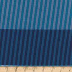 Cotton + Steel Eclipse Party Stripes Navy Fabric