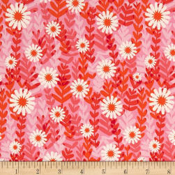 Cotton + Steel Freshly Picked Daisies Pink Fabric