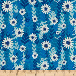 Cotton + Steel Freshly Picked Daisies Blue Fabric