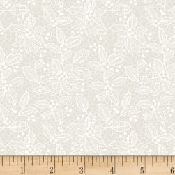 Let It Sparkle Holiday Lace Winter White Fabric