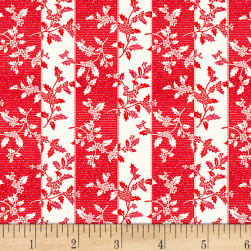 Let It Sparkle Trimmings Radiant Metallic Cherry Fabric