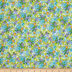 Easycare Broadcloth Camilla Blue Fabric
