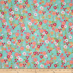 Easycare Broadcloth Caroline Mint Fabric