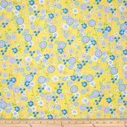 Easycare Broadcloth Caroline Yellow Fabric