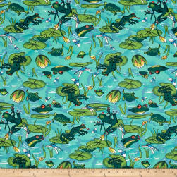 Easycare Broadcloth Frog Pond Jade Fabric