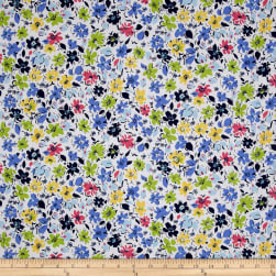 Easycare Broadcloth Helena Blue Fabric