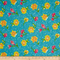 Easycare Broadcloth Liane Turq Fabric