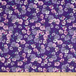 Easycare Broadcloth Morning Glory Lavender Fabric