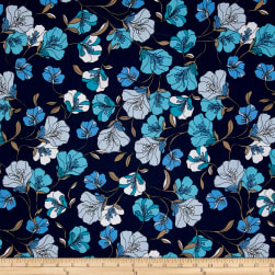 Easycare Broadcloth Morning Glory Blue Fabric