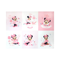 Mickey & Minnie Mouse Little Meadow Minnie Little Meadow 36'' Panel Pink Fabric