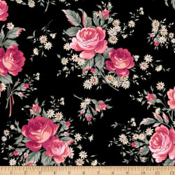 Rosette Jardin Midnight Rose Fabric