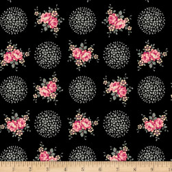 Rosette Provence Midnight Rose Fabric