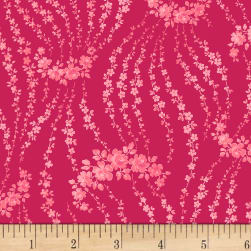 Rosette Giverny Rouge Fabric