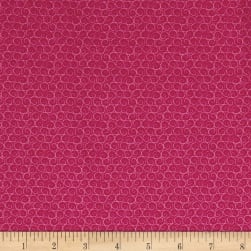 Llama Llama Bo Bama Curls Hot Pink Fabric