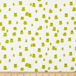 Cotton + Steel Front Yard Frogs Green Fabric