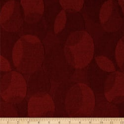 Kokka Olu Amu Dots Knit Red Fabric