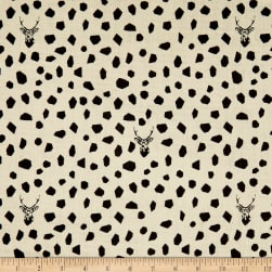 Kokka Echino Sambar Double Gauze Cream Fabric
