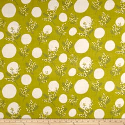 Kokka Spring Flower Mimosa Double Gauze Green/Cream Fabric