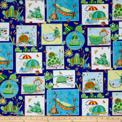Toby Turtle Patch Navy Fabric