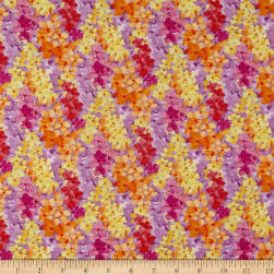 Bloom Bouquet Abstract Floral Orange Fabric