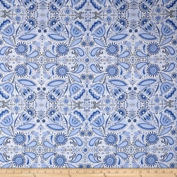 Moody Blues Floral Light Blue Fabric