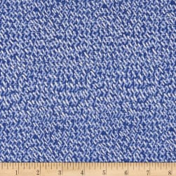 Moody Blues Dashes Medium Blue Fabric
