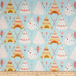 Dream Catcher'S Flannel Tee Pees Aqua Fabric
