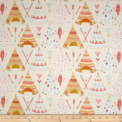 Dream Catcher'S Flannel Tee Pees Cream/Multi Fabric