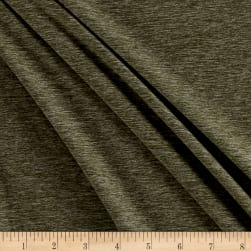 Merchants Double Brushed Jersey Knit Olive Two Tone