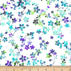 "Watercolor Meadow Digital 108"" Wide Back Floral Light"
