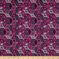 Stof Boho Graphics Star Pink/Grey Fabric