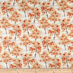 Wilmington Deer Meadow Trees Tan/Rust Fabric