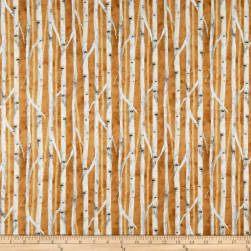 Wilmington Deer Meadow Birch Texture Brown Fabric