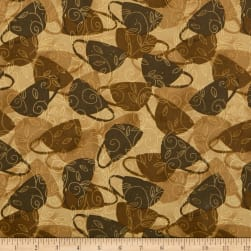 Wilmington Morning Coffee Cafe Shadows Latte Fabric