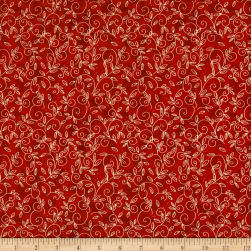 Wilmington Morning Coffee Cafe Vines Red Fabric