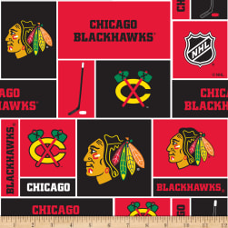 NHL Fleece Chicago Blackhawks Fabric