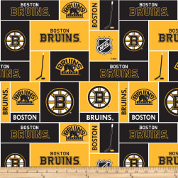 NHL Fleece Boston Bruins Fabric