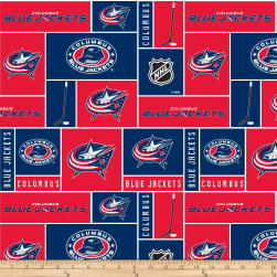 NHL Fleece Columbus Blue Jackets Fabric