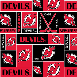 NHL Fleece New Jersey Devils Fabric