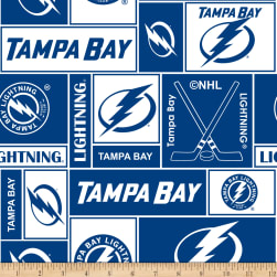 NHL Fleece Tampa Bay Lightning Fabric